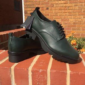 Zara Block Heel Leather Shoe Women's Sz 8